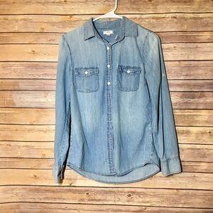 J.Crew Denim Button Down Shirt Size 4